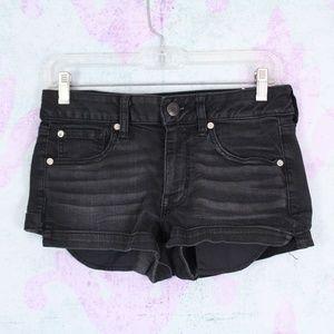 AE Distressed Super Stretch Shortie Jean Shorts